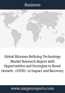 Global Bitumen Refining Technology Market Research Report with Opportunities and Strategies to Boost Growth- COVID-19 Impact and Recovery