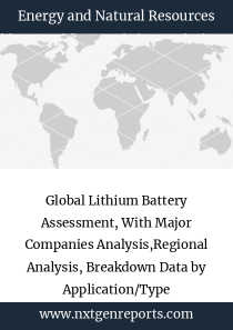 Global Lithium Battery Assessment, With Major Companies Analysis,Regional Analysis, Breakdown Data by Application/Type