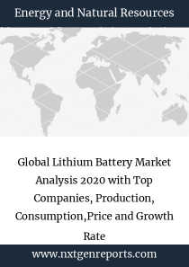 Global Lithium Battery Market Analysis 2020 with Top Companies, Production, Consumption,Price and Growth Rate