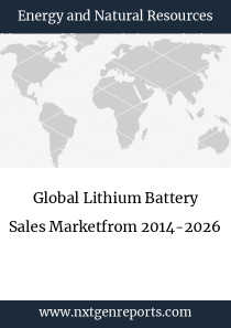 Global Lithium Battery Sales Marketfrom 2014-2026