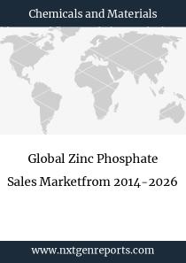 Global Zinc Phosphate Sales Marketfrom 2014-2026